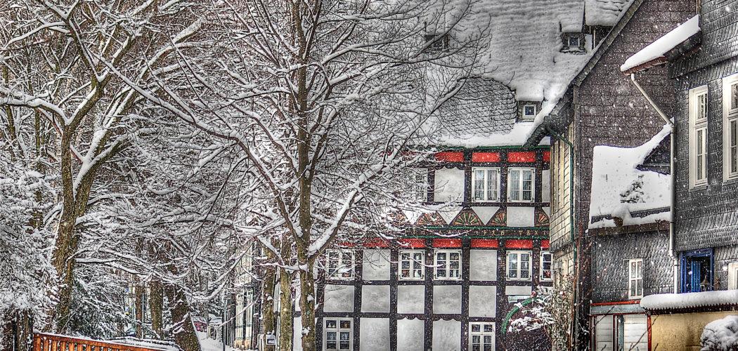 Ferienwohnung Runenhaus Goslar im Winter