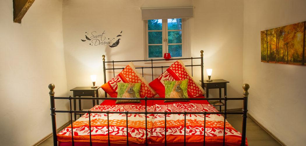 Ferienwohnung das Goslarer Runenhaus Schlafzimmer Wohnung 1