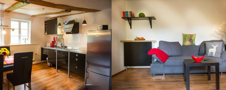 Ferienwohnung Goslar Wohmzimmer mit Küche