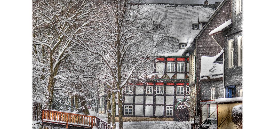 Ferienwohnung Goslar im Schnee